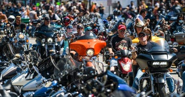 No Face Masks or Social Distancing as Annual Sturgis Motorcycle Rally Draws Thousands