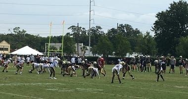 New Orleans Saints training camp practice