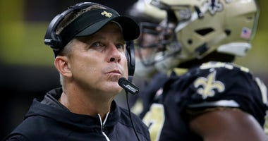 Oct 15, 2017; New Orleans, LA, USA; New Orleans Saints head coach Sean Payton on the sidelines in the second half against the Detroit Lions at the Mercedes-Benz Superdome.