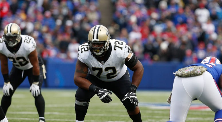 Nov 12, 2017; Orchard Park, NY, USA; New Orleans Saints offensive tackle Terron Armstead (72) against the Buffalo Bills at New Era Field.