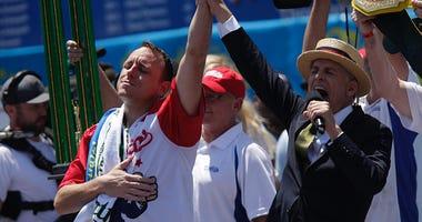 Joey Chestnut retains his Nathan's Hot Dog Eating Contest title.