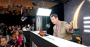 Clemson Tigers head coach Dabo Swinney during the College Football Playoff National Championship media at Xavier University of Louisiana Convocation Ce.