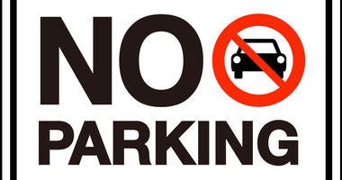 Parking Restrictions start Saturday