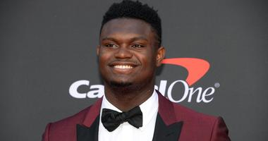 Jul 10, 2019; Los Angeles, CA, USA; New Orleans Pelicans player Zion Williamson arrives on the red carpet at Microsoft Theatre.