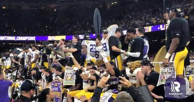 LSU celebrates national championship win against Clemson