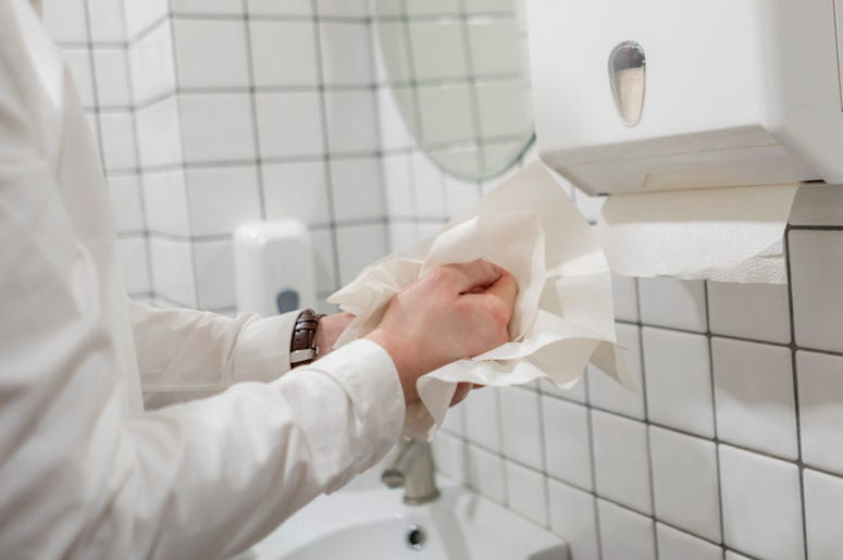 How You Dry Your Hands Off Matters Too