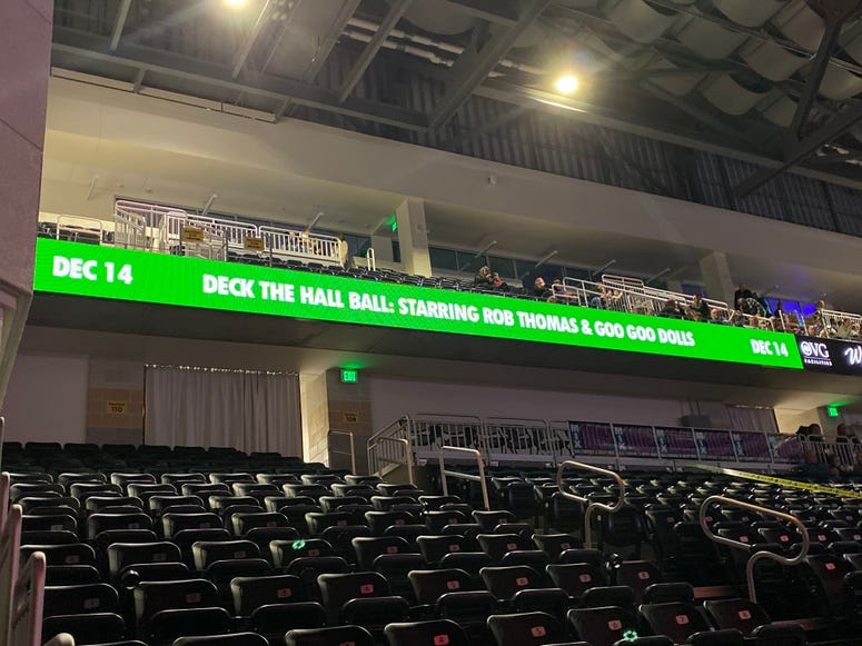 Deck The Hall Ball Banner Inside UMBC Event Center