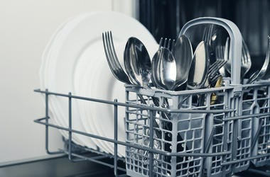 When You Load a Dishwasher, Should the Silverware Point Up or Down