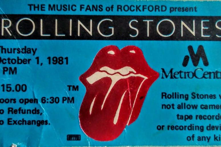 Rolling Stones Ticket Stub Rockford 1981