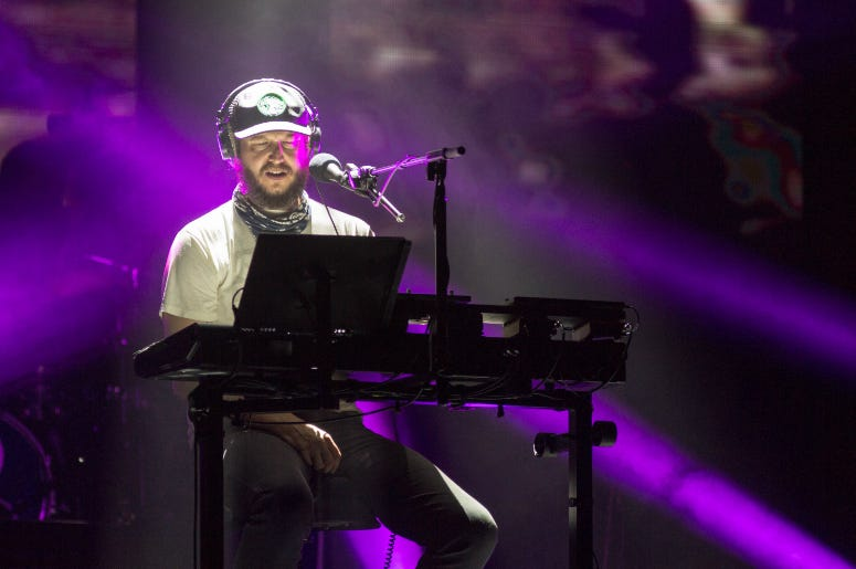 ustin Vernon of Bon Iver at Eaux Claires Music Festival on August 12, 2016, in Eau Claire, Wisconsin