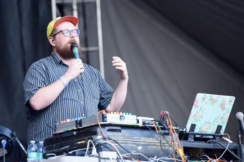 LOS ANGELES, CA - OCTOBER 07: Dan Deacon performs onstage during Adult Swim Festival 2018 at ROW DTLA on October 7, 2018 in Los Angeles, California. (Photo by Vivien Killilea/Getty Images for Adult Swim)
