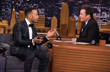 "NEW YORK, NY - DECEMBER 05: John Legend visits ""The Tonight Show Starring Jimmy Fallon"" on December 5, 2018 in New York City. (Photo by Theo Wargo/Getty Images for NBC)"