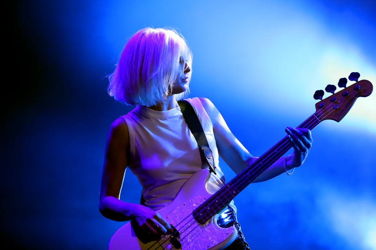 LOS ANGELES, CA - JANUARY 05: Sarah Barthel of Phantogram performs onstage during Michael Muller's HEAVEN, presented by The Art of Elysium, on January 5, 2019 in Los Angeles, California. (Photo by Rich Polk/Getty Images for The Art of Elysium)