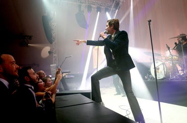 WEST HOLLYWOOD, CA - FEBRUARY 24: Brandon Flowers of The Killers performs onstage during the 27th annual Elton John AIDS Foundation Academy Awards Viewing Party sponsored by IMDb and Neuro Drinks celebrating EJAF and the 91st Academy Awards.
