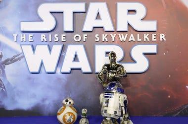BB-8, D-O, R2-D2, C-3PO