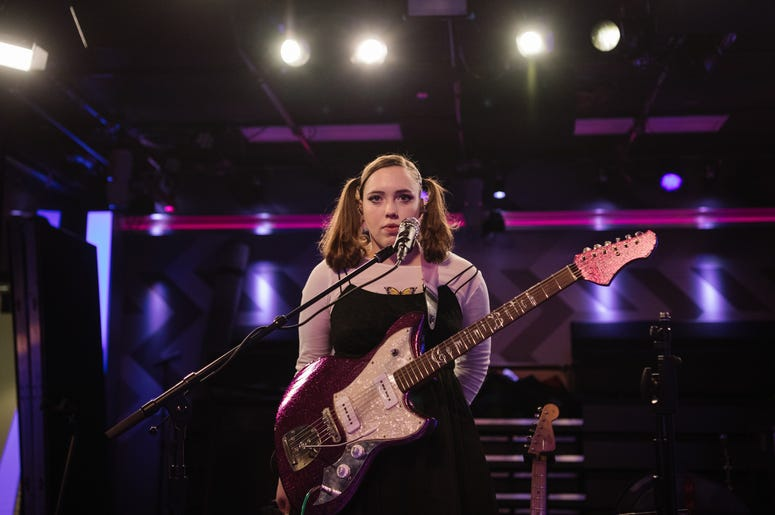 LOS ANGELES, CALIFORNIA - FEBRUARY 25: Soccer Mommy performs at SiriusXM Hollywood Studio on February 25, 2020 in Los Angeles, California. (Photo by Morgan Lieberman/Getty Images)
