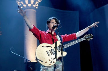 NEW YORK, NY - JUNE 08: Musician Ezra Koenig of Vampire Weekend performs during the 2014 Governors Ball Music Festival at Randall's Island on June 8, 2014 in New York City. (Photo by Paul Zimmerman/Getty Images)