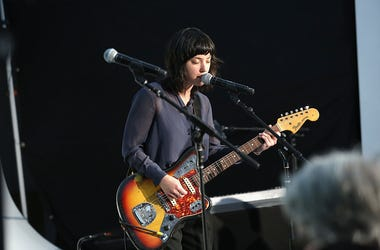 NEW YORK, NY - MAY 22: Musician Sharon Van Etten performs at the 2016 Vulture Festival at Milk Studios on May 22, 2016 in New York City. (Photo by Cindy Ord/Getty Images for Vulture Festival)