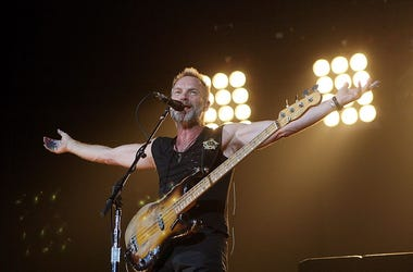 LAS VEGAS - MAY 23: Singer/bassist Sting of The Police performs at the MGM Grand Garden Arena May 23, 2008 in Las Vegas, Nevada. (Photo by Ethan Miller/Getty Images)