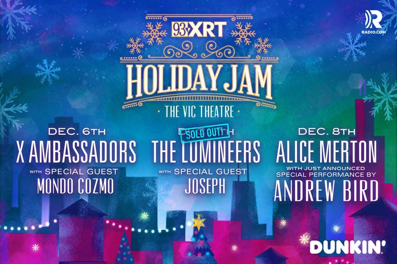 Holiday Jam lineup with Dunkin logo