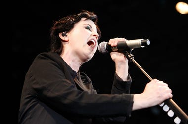 Dolores O'Riordan from The Cranberries performs during F1 Rocks! Melbourne at Sidney Myer Music Bowl on March 17, 2012