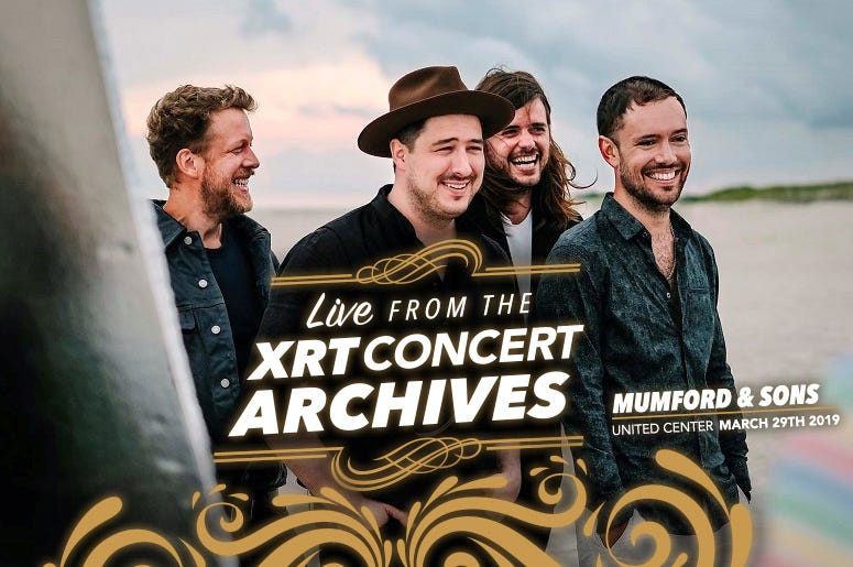Mumford and Sons live from the XRT concert archives.