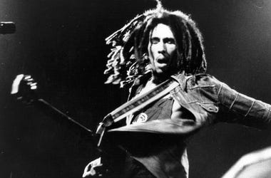 Bob Marley performs live in concert