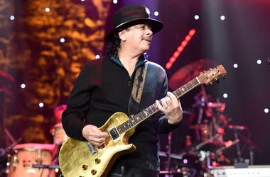 Carlos Santana performs live in concert.