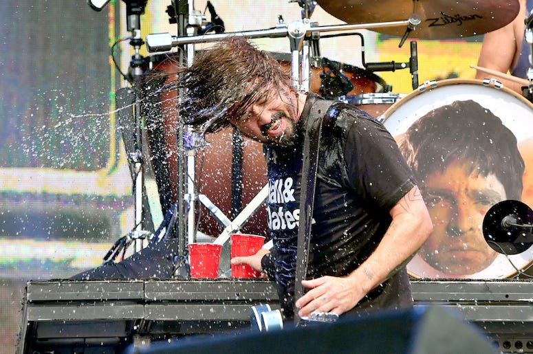 Dave Grohl of Foo Fighters performs live in concert.
