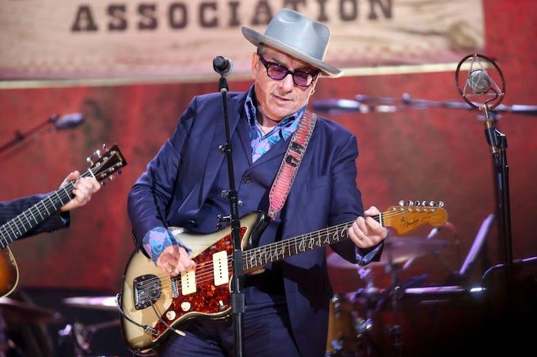 Elvis Costello performs live in concert.