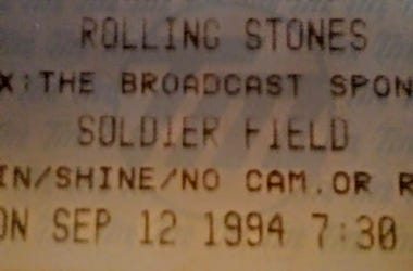 Stones Voodoo Lounge tour ticket stub