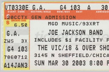 Joe Jackson Live From The XRT Concert Archives
