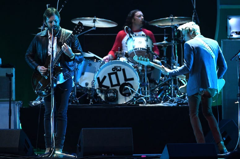Kings of Leon perform live in concert.