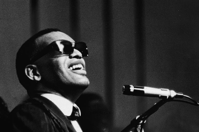 Ray Charles performes live in concert.
