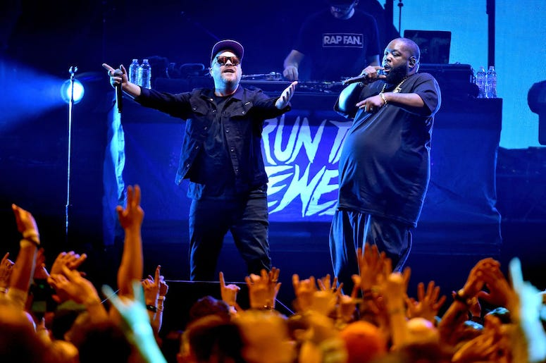 Run The Jewels perform live in concert.