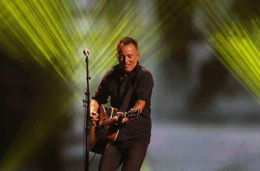 Bruce Springsteen performs live in concert.