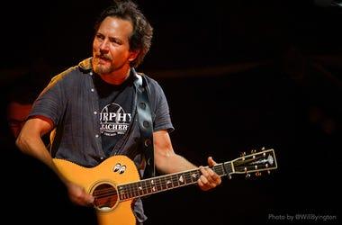 Eddie Vedder of Pearl Jam live at Wrigley Field