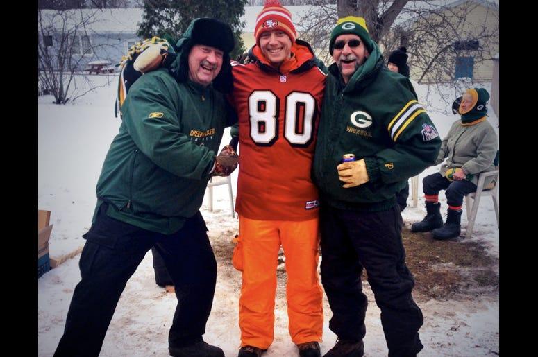 Jason Thomas as a visiting fan at Green Bay Packers Lambeau Field