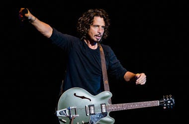 Chris Cornell of Soundgarden performs on stage during the 2014 Lollapalooza Brazil