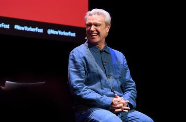 NEW YORK, NEW YORK - OCTOBER 13: David Byrne speaks on stage during the 2019 New Yorker Festival on October 13, 2019 in New York City. (Photo by Ilya S. Savenok/Getty Images for The New Yorker)