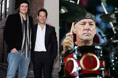 Jason Segel & Paul Rudd,  Neil Peart