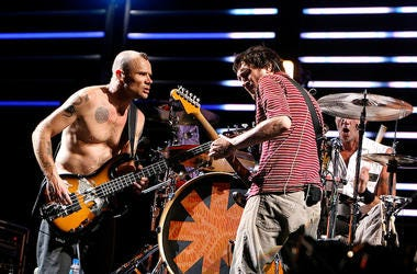 John Frusciante and Flea of the Red Hot Chili Peppers