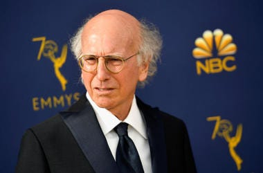 Curb Your Enthusiasm actor Larry David is seen attending the Emmy Awards.