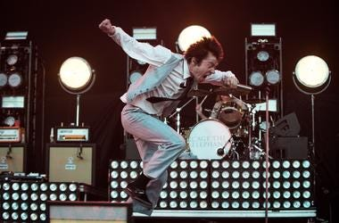 Matt Shultz of Cage The Elephant performs during the CalJam17 Music Festival at Glen Helen Amphitheater on October 7, 2017 in San Bernadino, California. (Photo by Stephanie Port/imageSPACE)