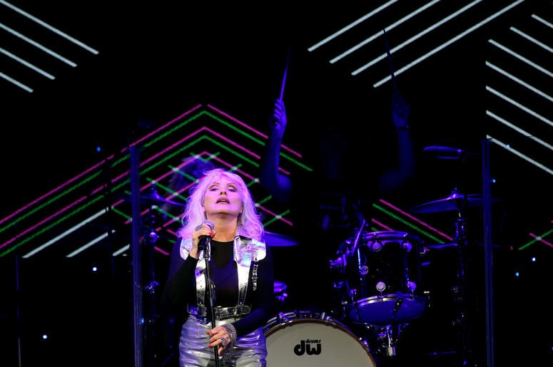 BEVERLY HILLS, CA - MAY 16: Debbie Harry of Blondie performs onstage during the ASCAP 2019 Pop Music Awards at The Beverly Hilton Hotel on May 16, 2019 in Beverly Hills, California. (Photo by Ari Perilstein/Getty Images for ASCAP)