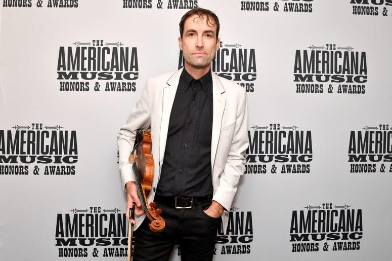 NASHVILLE, TENNESSEE - SEPTEMBER 11: Andrew Bird seen backstage during the 2019 Americana Honors & Awards at Ryman Auditorium on September 11, 2019 in Nashville, Tennessee. (Photo by Erika Goldring/Getty Images for Americana Music Association)