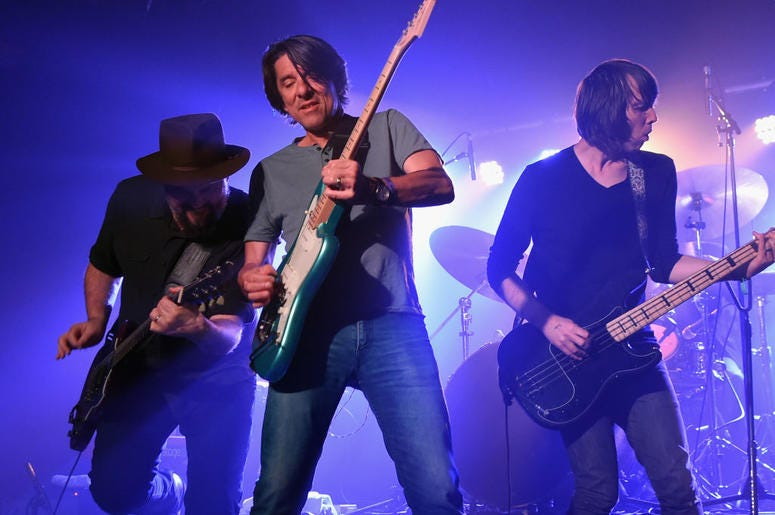 NASHVILLE, TN - SEPTEMBER 14: Singer/Songwriters Patterson Hood and Mike Cooley of Drive-By Truckers perform during 18th Annual Americana Music Festival & Conference - Cannery Ballroom Showcases at Cannery Ballroom on September 14, 2017 in Nashville, Tenn