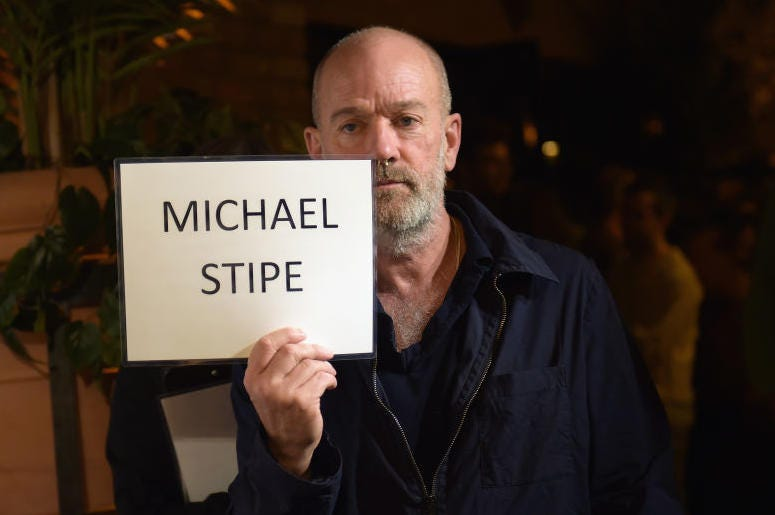 """NEW YORK, NY - OCTOBER 19: Michael Stipe attends the premiere screening and party for truTV's new comedy series """"At Home with Amy Sedaris"""" at The Bowery Hotel on October 19, 2017 in New York City. 27056_024. (Photo by Jason Kempin/Getty Images)"""