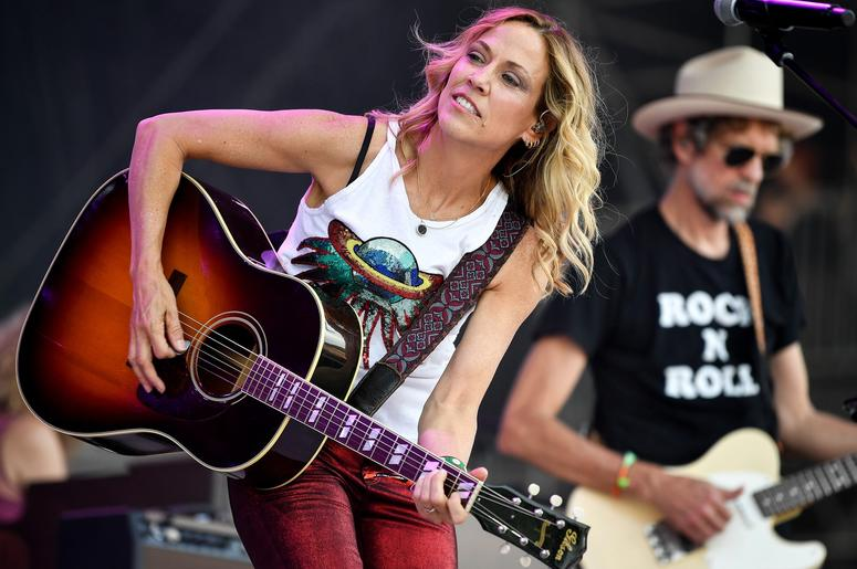 June 8, 2018; Manchester, TN, USA; Sheryl Crow performs at the Bonnaroo Music and Arts Festival. Mandatory Credit: Andrew Nelles/The Tennessean via USA TODAY NETWORK