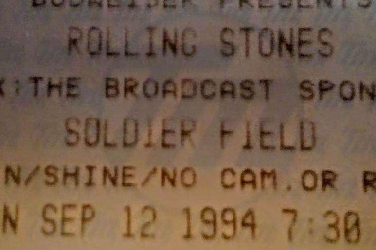 Stones Voodoo Lounge tour ticket stub